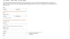 Criar uma conta Outlook