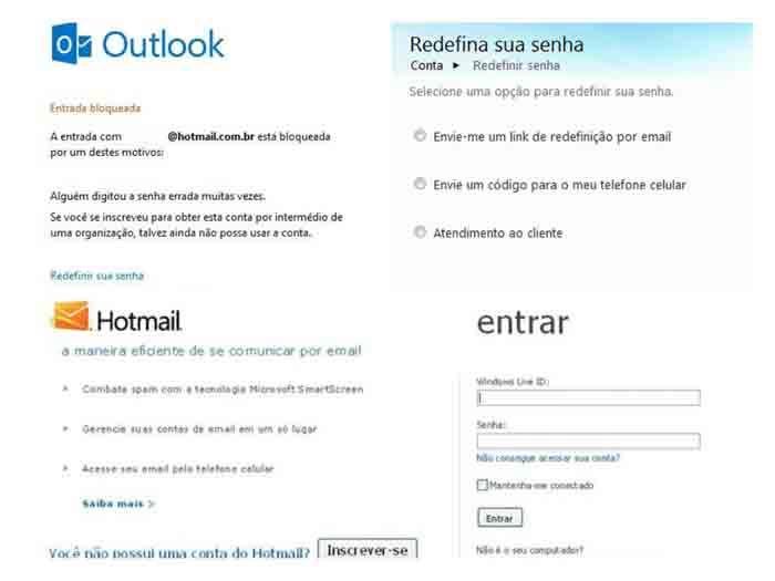 Problemas no Hotmail