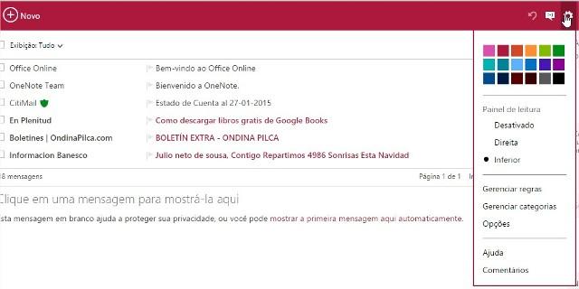 Personalizando o meu Hotmail